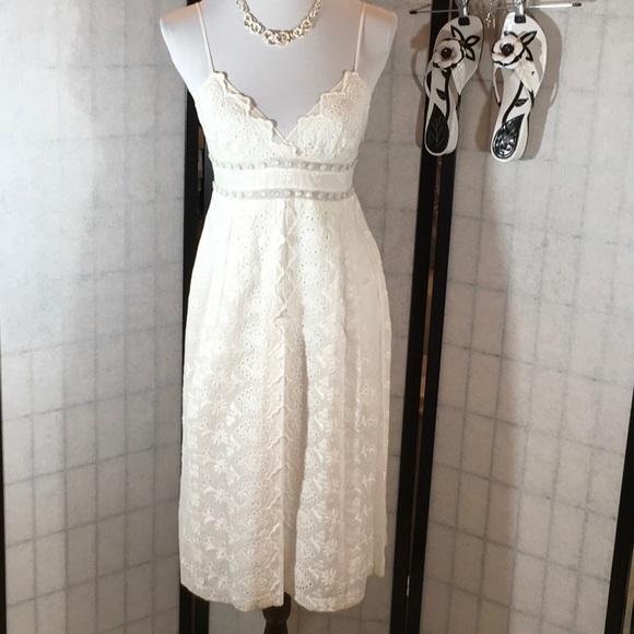 d9f0bdfc73 Rebecca Taylor white eyelet cami sundress NWT